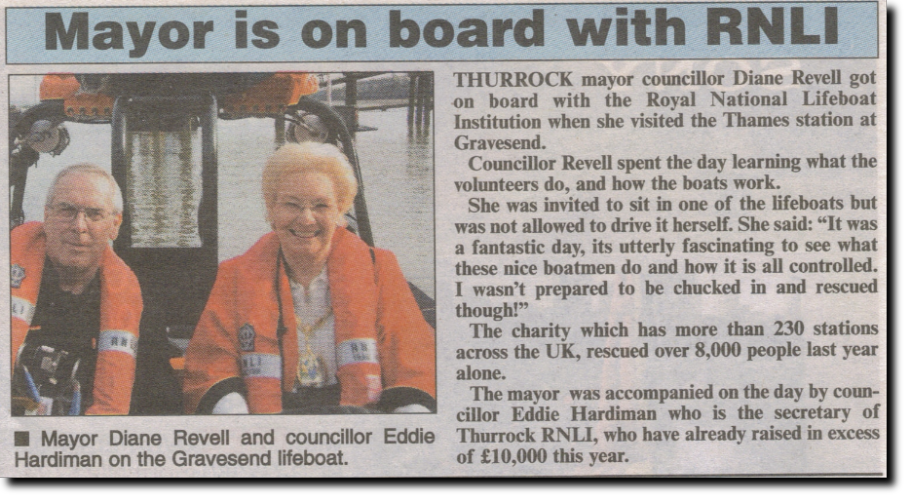 Mayor is onboard with RNLI